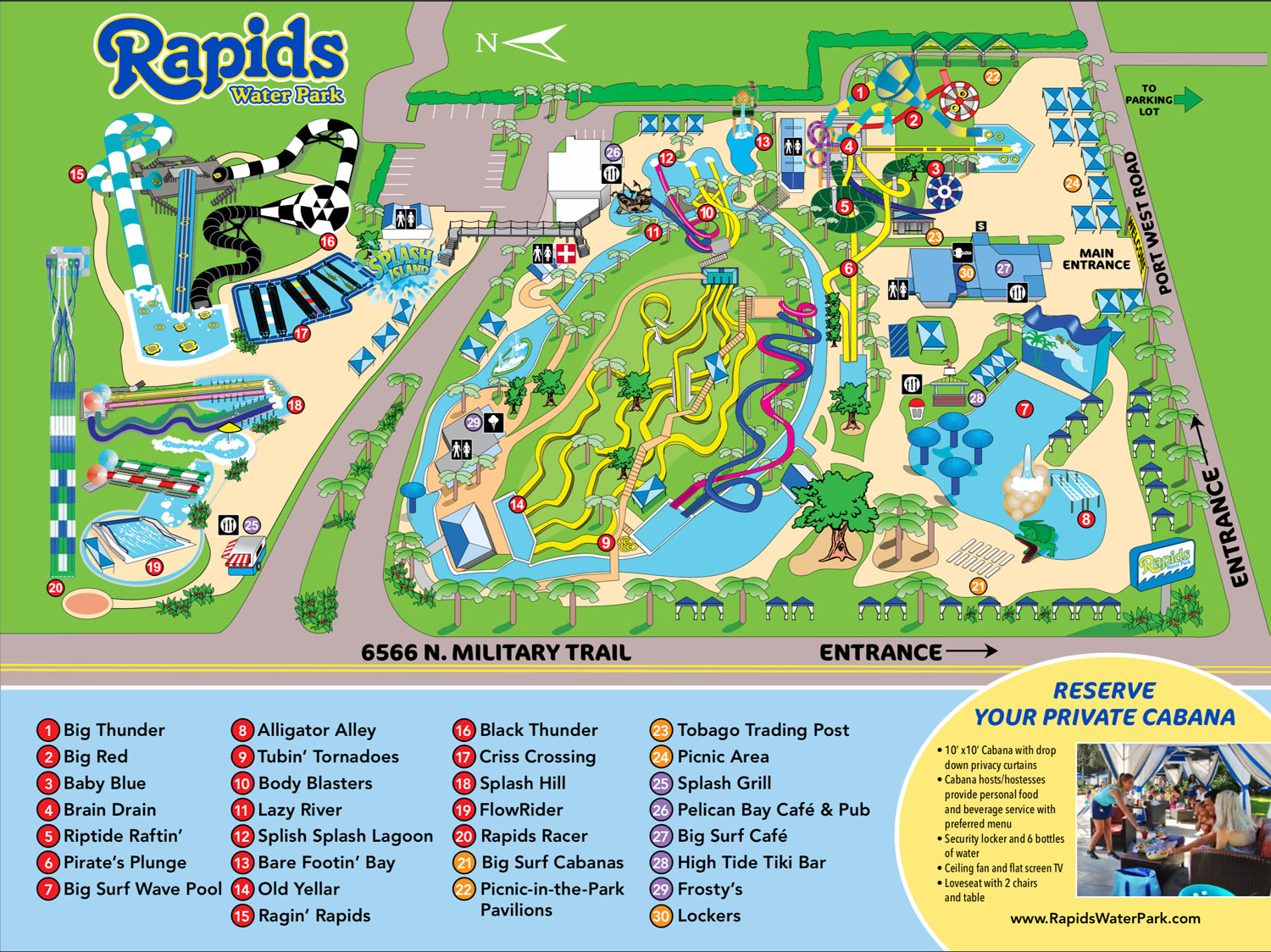 Rapids Waterpark West Palm Beach Map